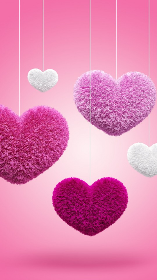 Fluffy Hearts Wallpaper for SAMSUNG Galaxy S4 Mini