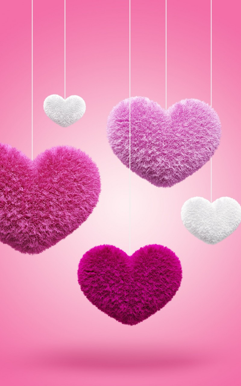 Fluffy Hearts Wallpaper for Amazon Kindle Fire HD