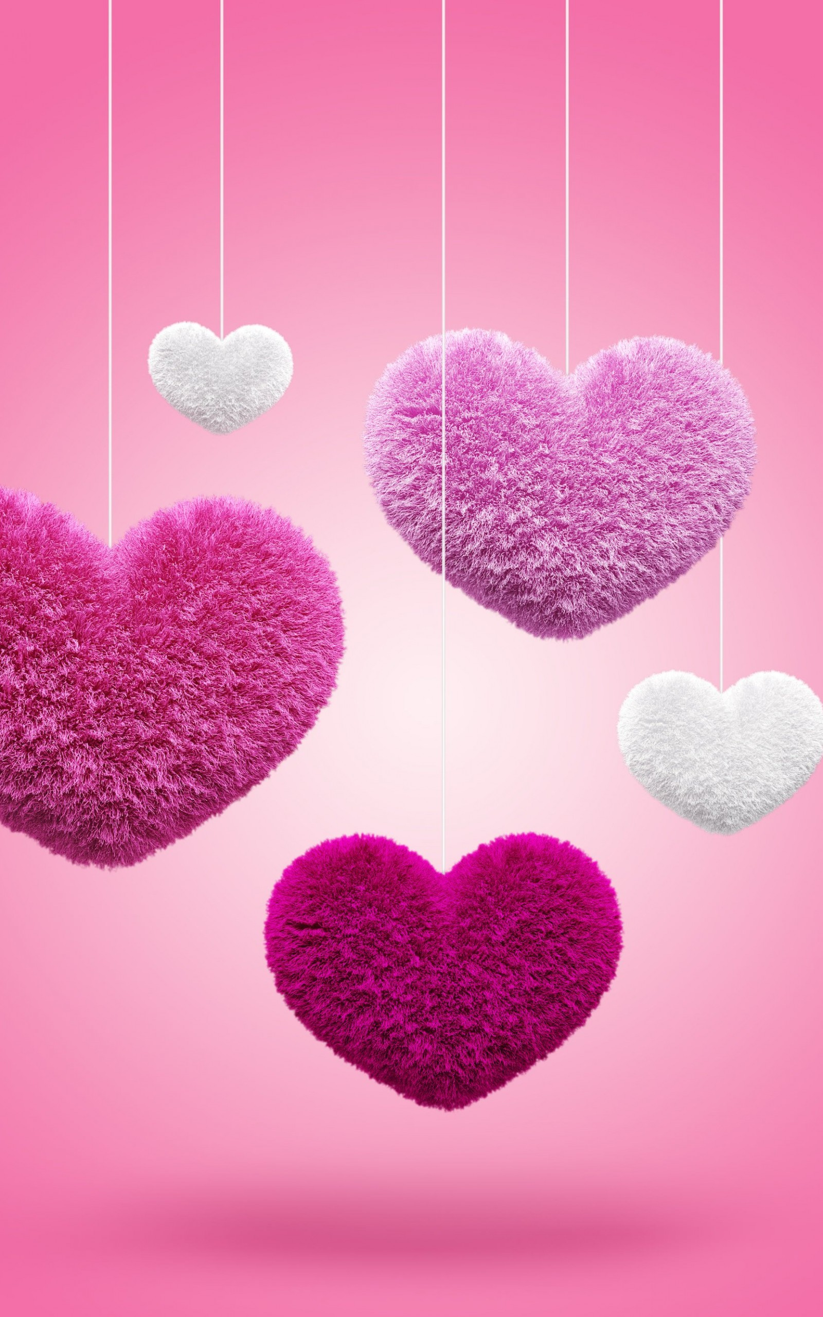 Fluffy Hearts Wallpaper for Amazon Kindle Fire HDX 8.9