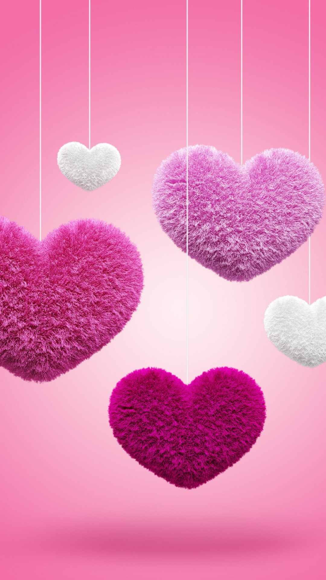 Fluffy Hearts Wallpaper for SONY Xperia Z2