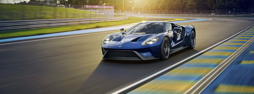 Ford GT Supercar Wallpaper for Social Media Facebook Cover