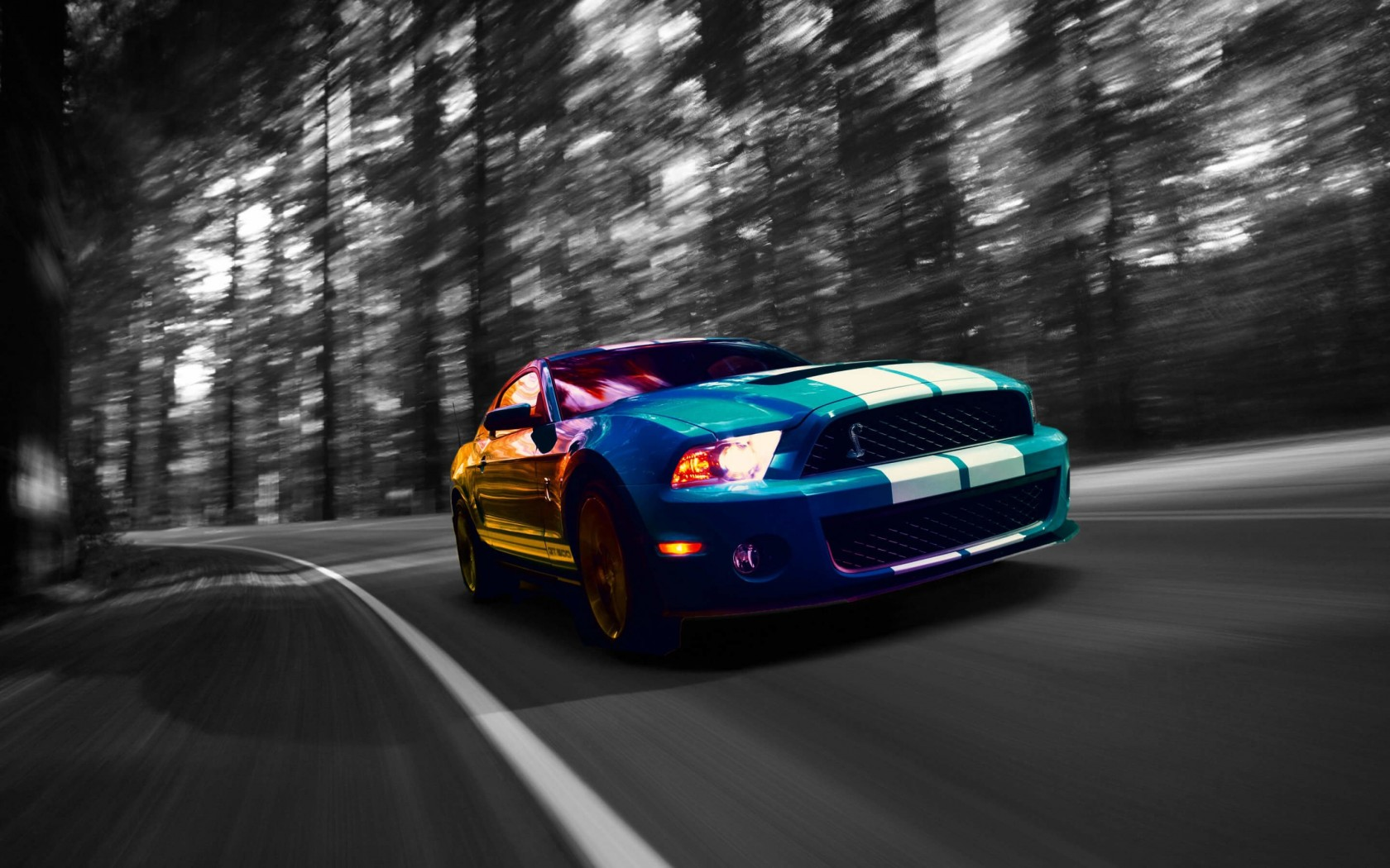 Download Ford Mustang Shelby GT500 HD wallpaper for 1680 x 1050 ...