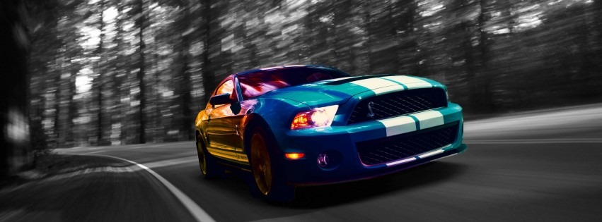 Ford Mustang Shelby GT500 Wallpaper for Social Media Facebook Cover