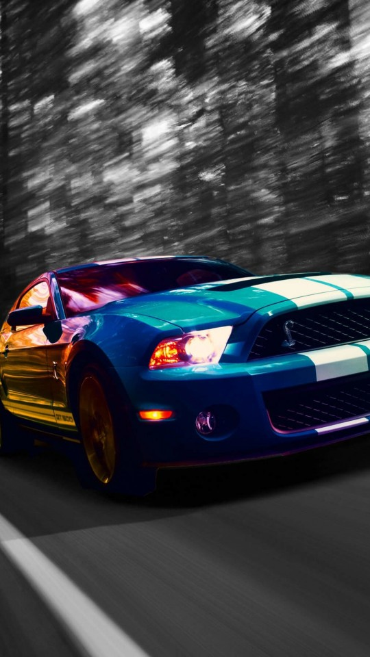 Ford Mustang Shelby GT500 Wallpaper for SAMSUNG Galaxy S4 Mini