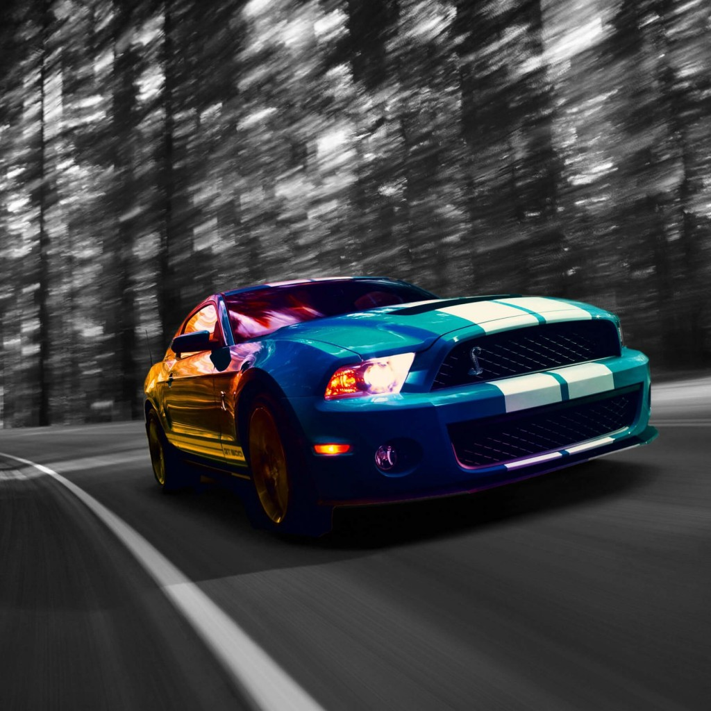 Ford Mustang Shelby GT500 Wallpaper for Apple iPad 2