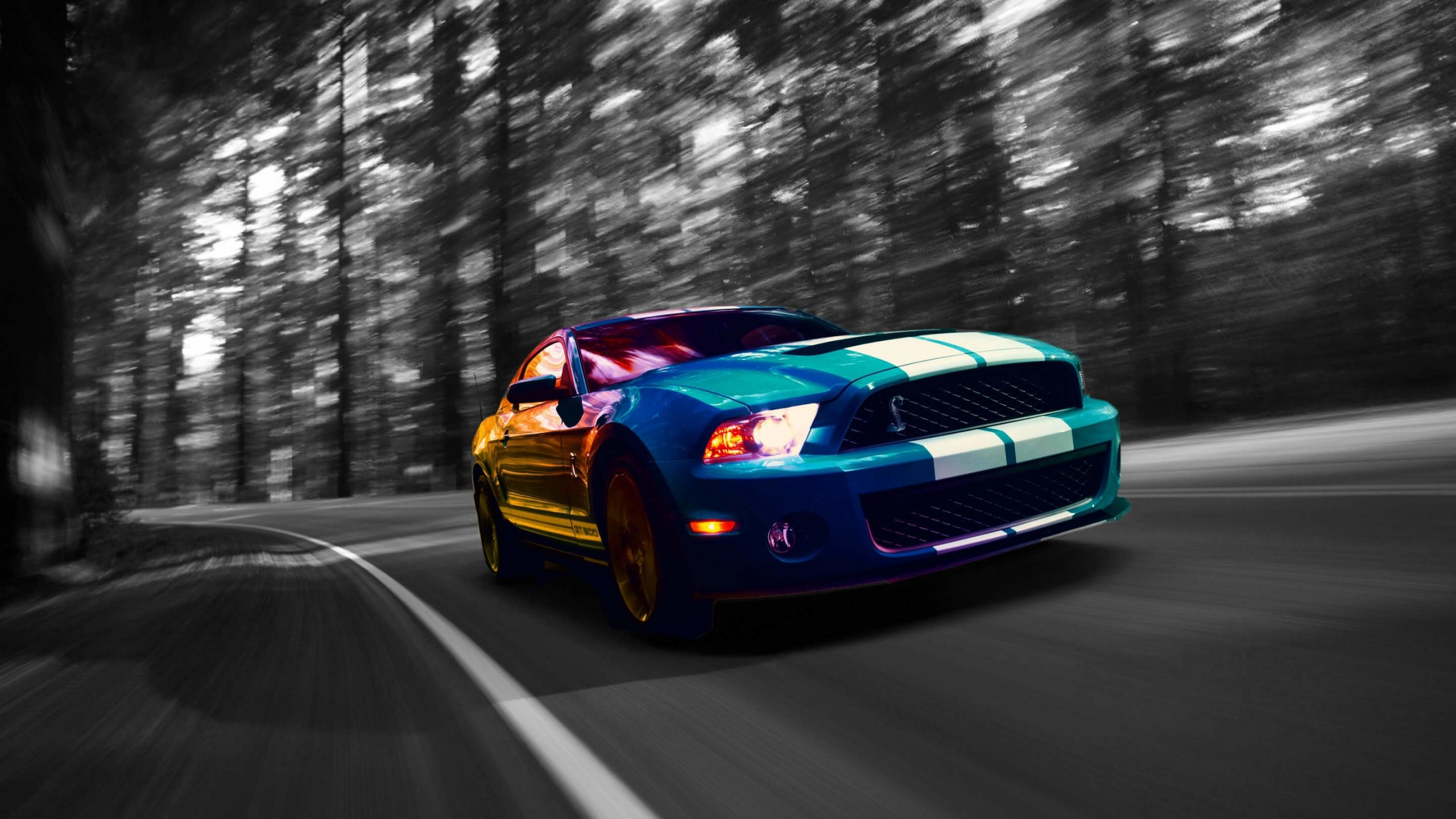Ford Mustang Shelby GT500 Wallpaper for Social Media YouTube Channel Art