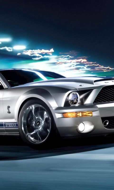 Ford Mustang Shelby GT500KR Wallpaper for HTC Desire HD