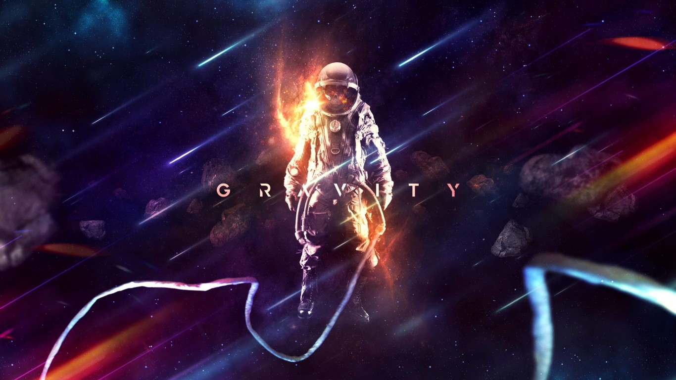 G R A V I T Y Wallpaper for Desktop 1366x768