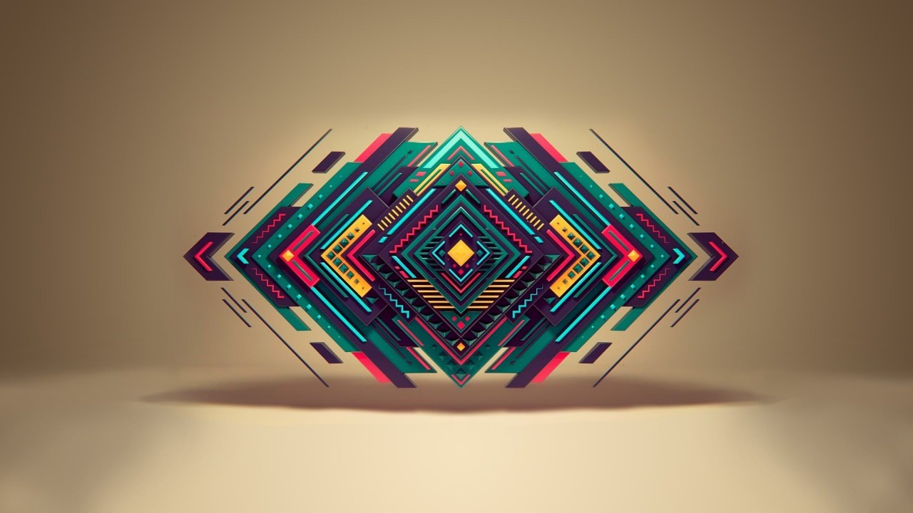 Geometric Shapes Wallpaper for Desktop 1280x720
