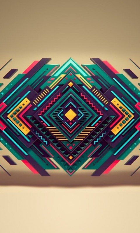 Geometric Shapes Wallpaper for HTC Desire HD