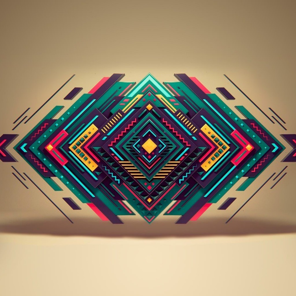 Geometric Shapes Wallpaper for Apple iPad 2