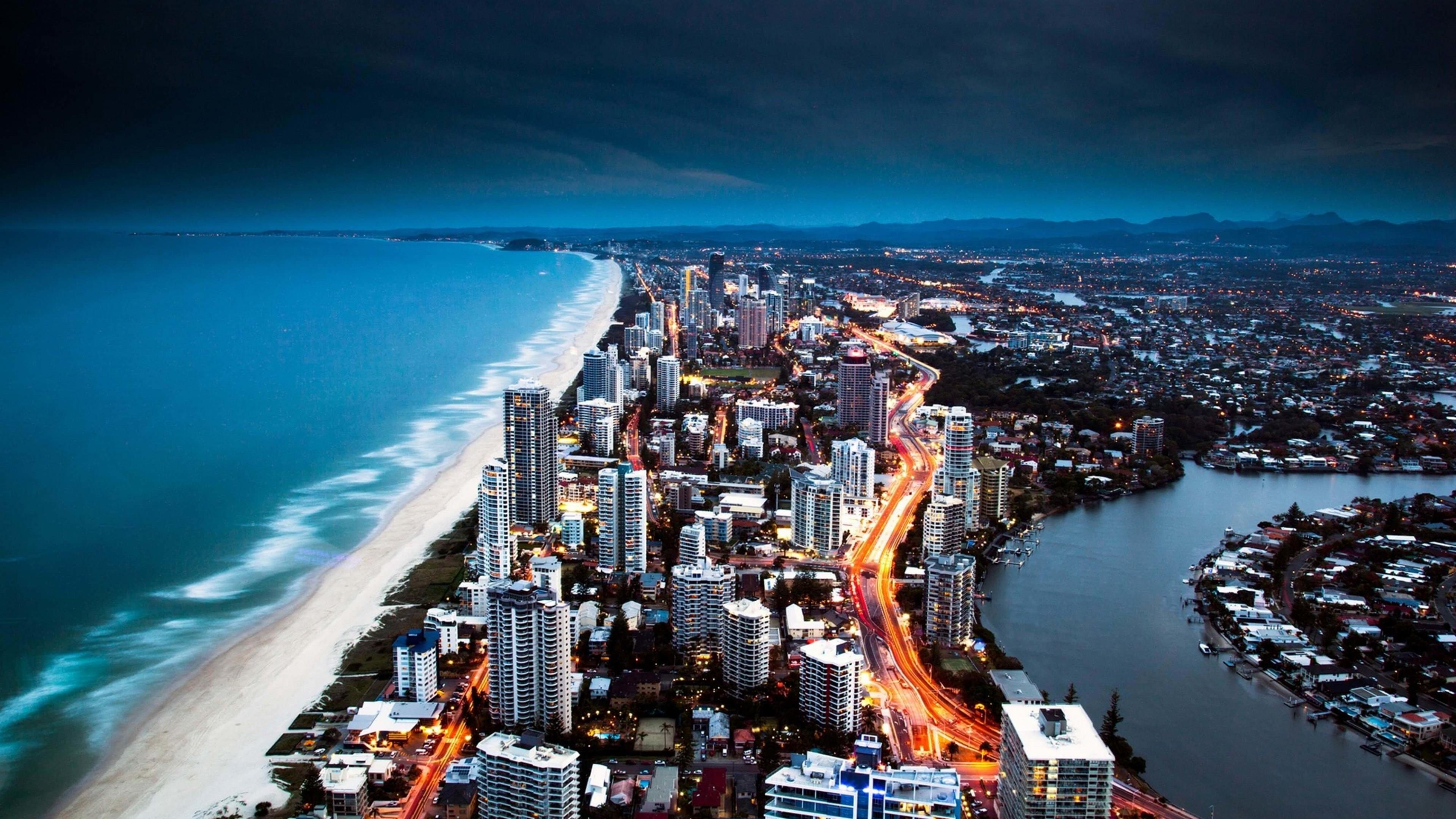 Download Gold Coast City in Queensland, Australia HD wallpaper for 4K ...