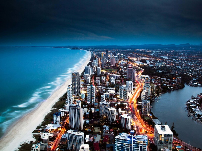 Gold Coast City in Queensland, Australia Wallpaper for Desktop 800x600