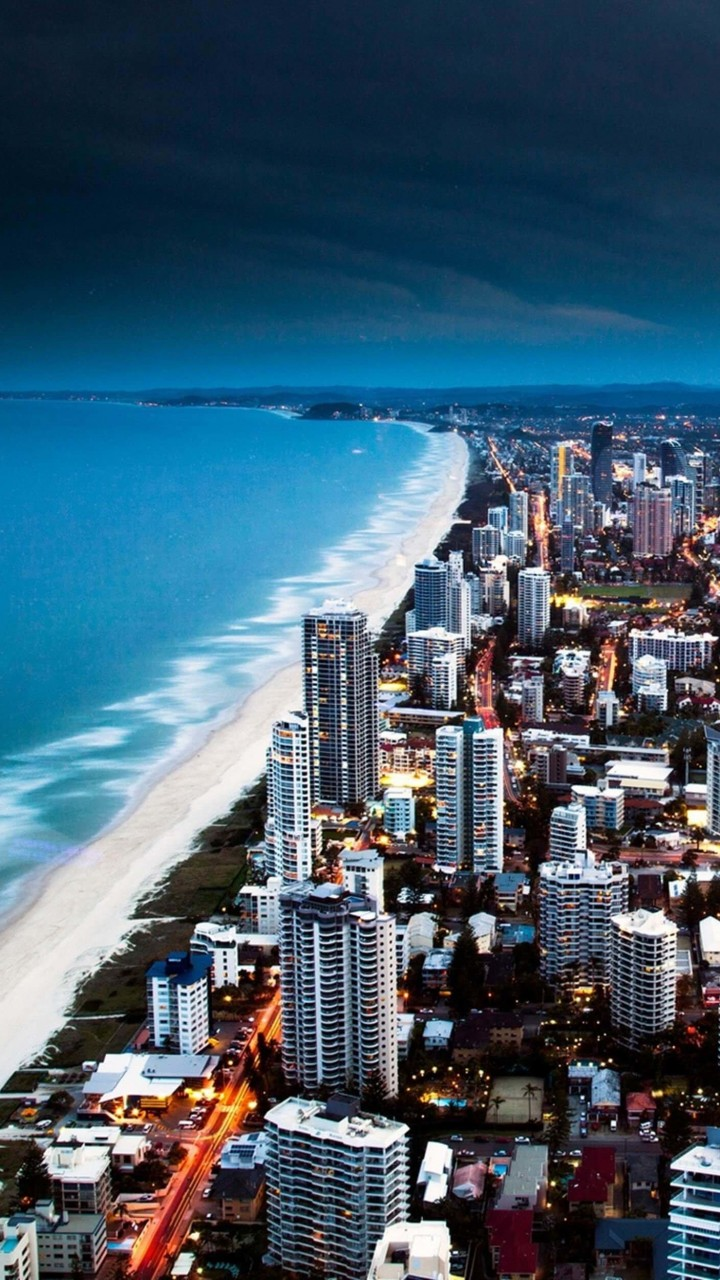Gold Coast City in Queensland, Australia Wallpaper for Motorola Droid Razr HD