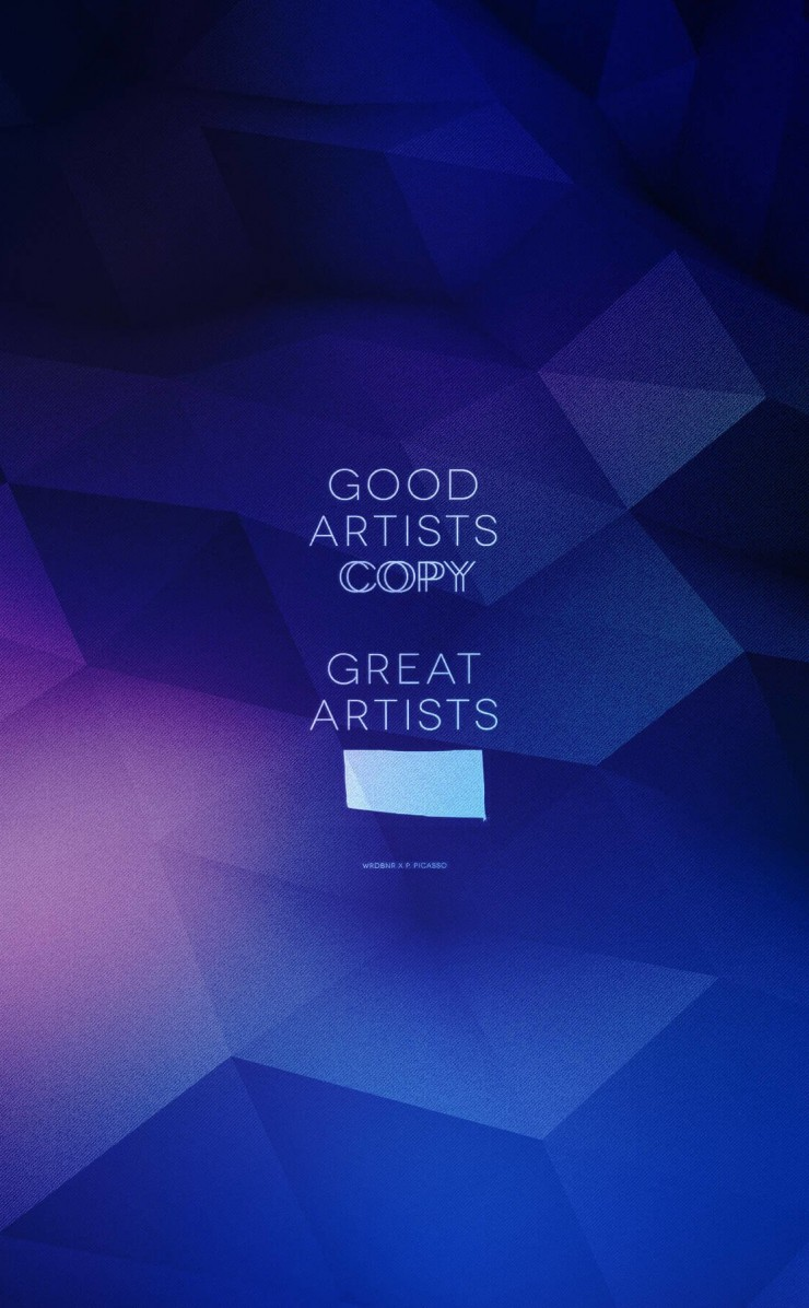 Good Artists Copy Wallpaper for Apple iPhone 4 / 4s