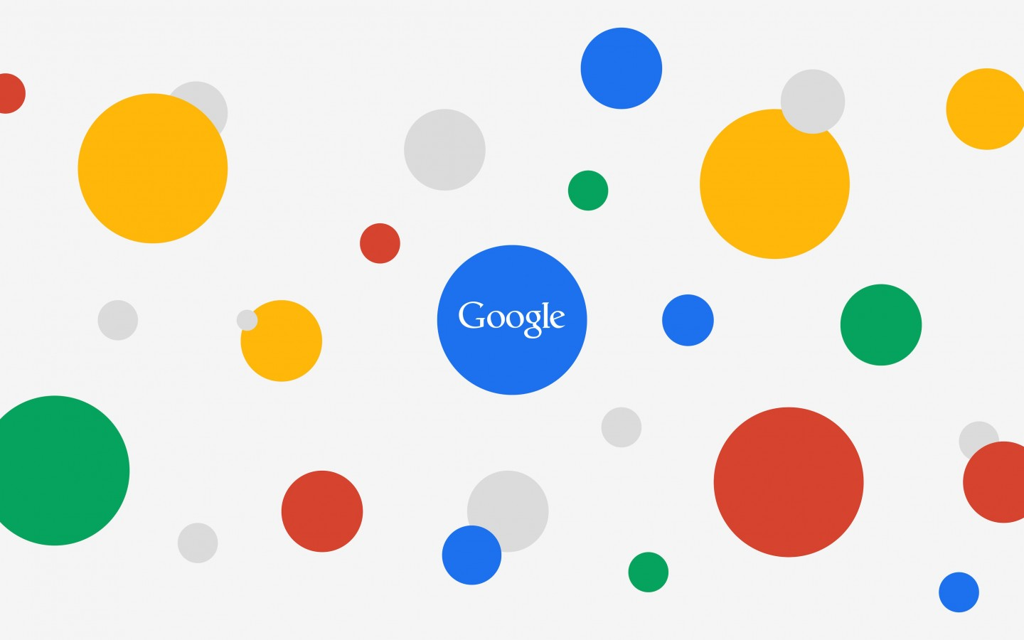 Google Circles Light Wallpaper for Desktop 1440x900