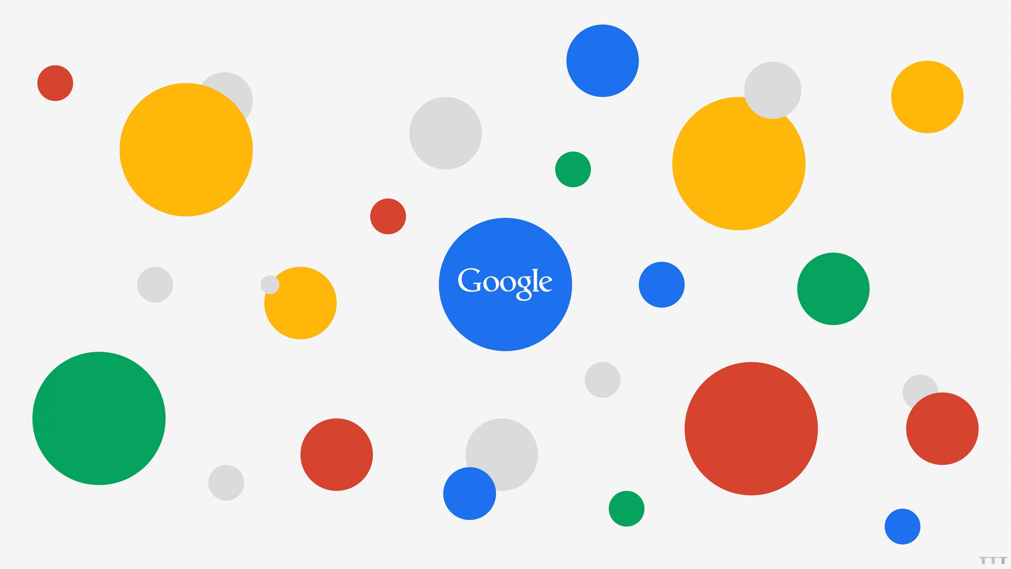 Google Circles Light Wallpaper for Desktop 4K 3840x2160