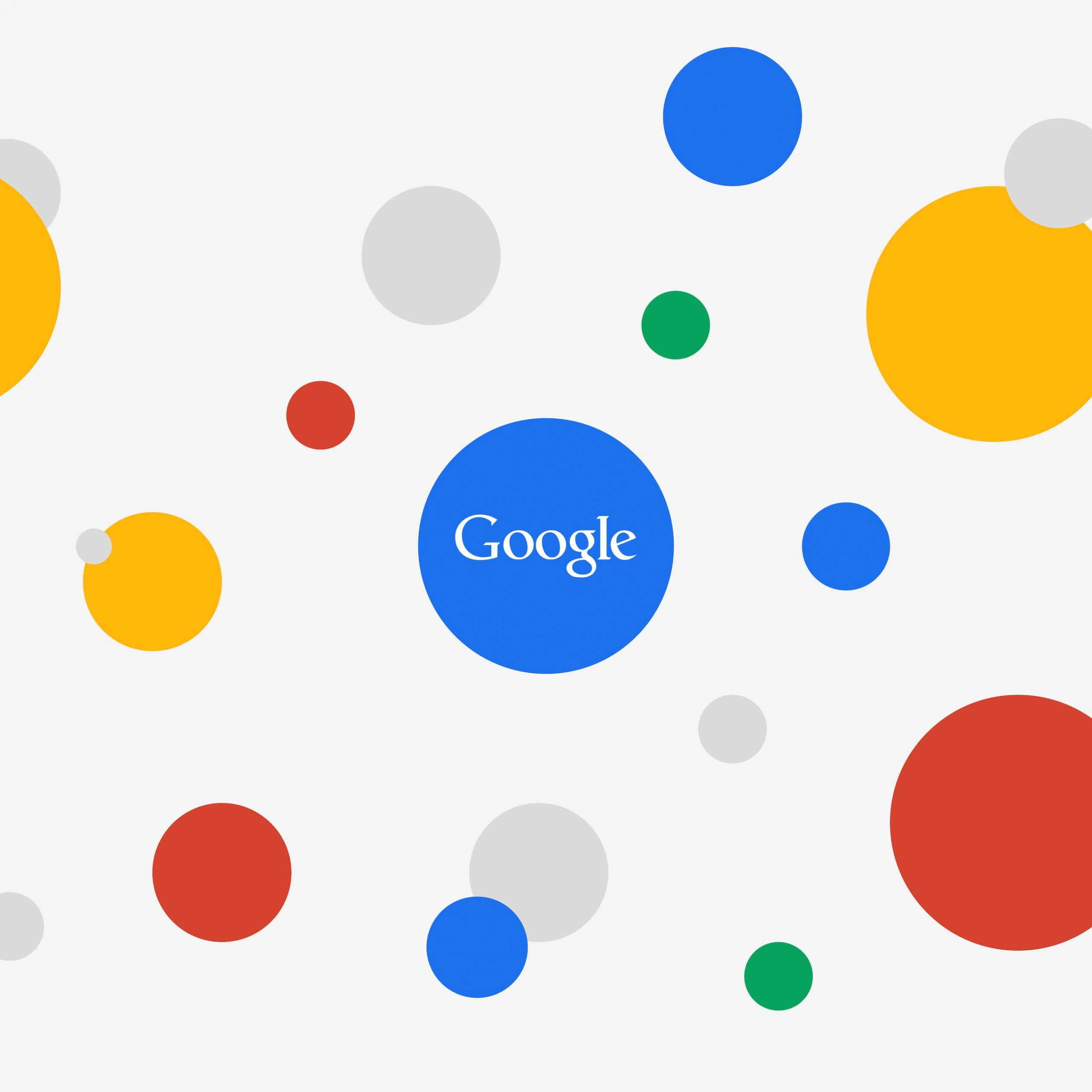 Google Circles Light Wallpaper for Apple iPad mini 2