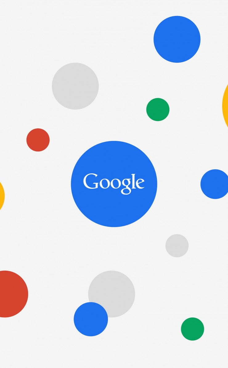 Google Circles Light Wallpaper for Apple iPhone 4 / 4s