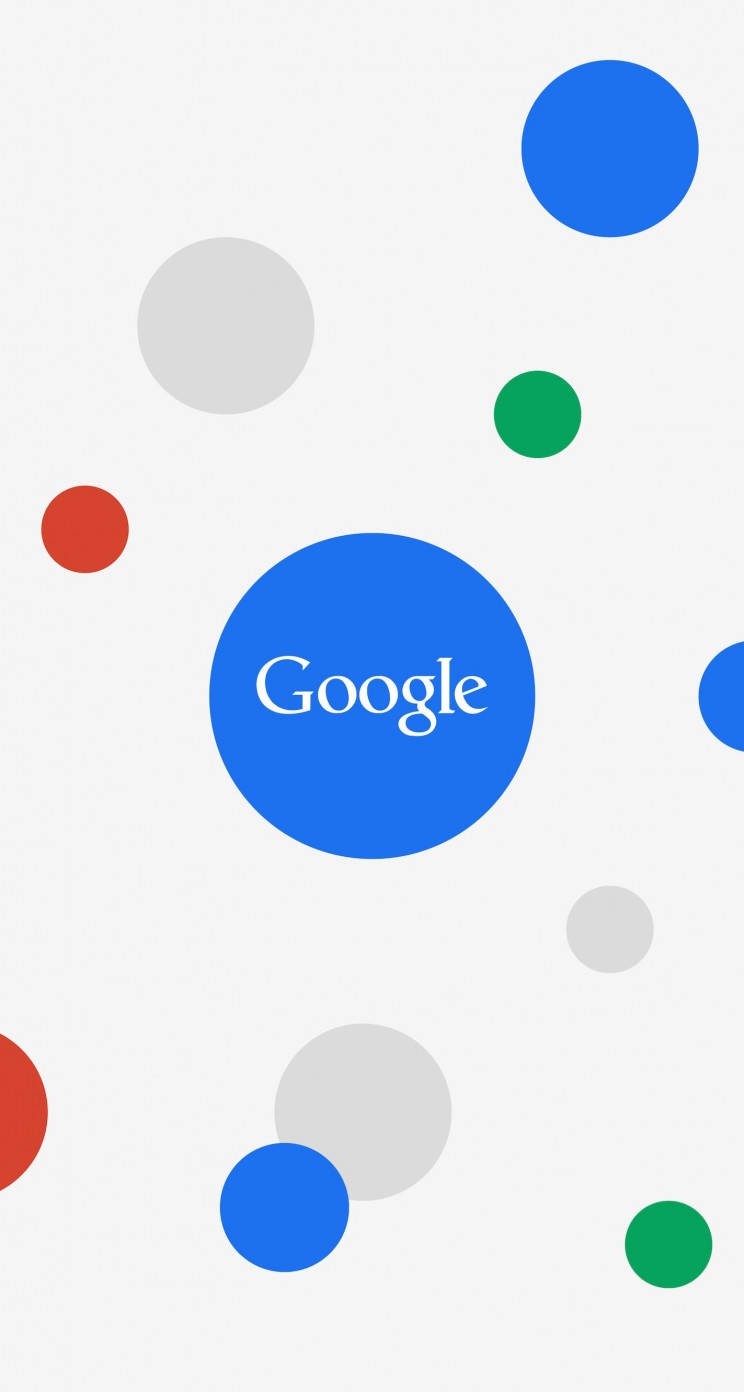 Google Circles Light Wallpaper for Apple iPhone 5 / 5s