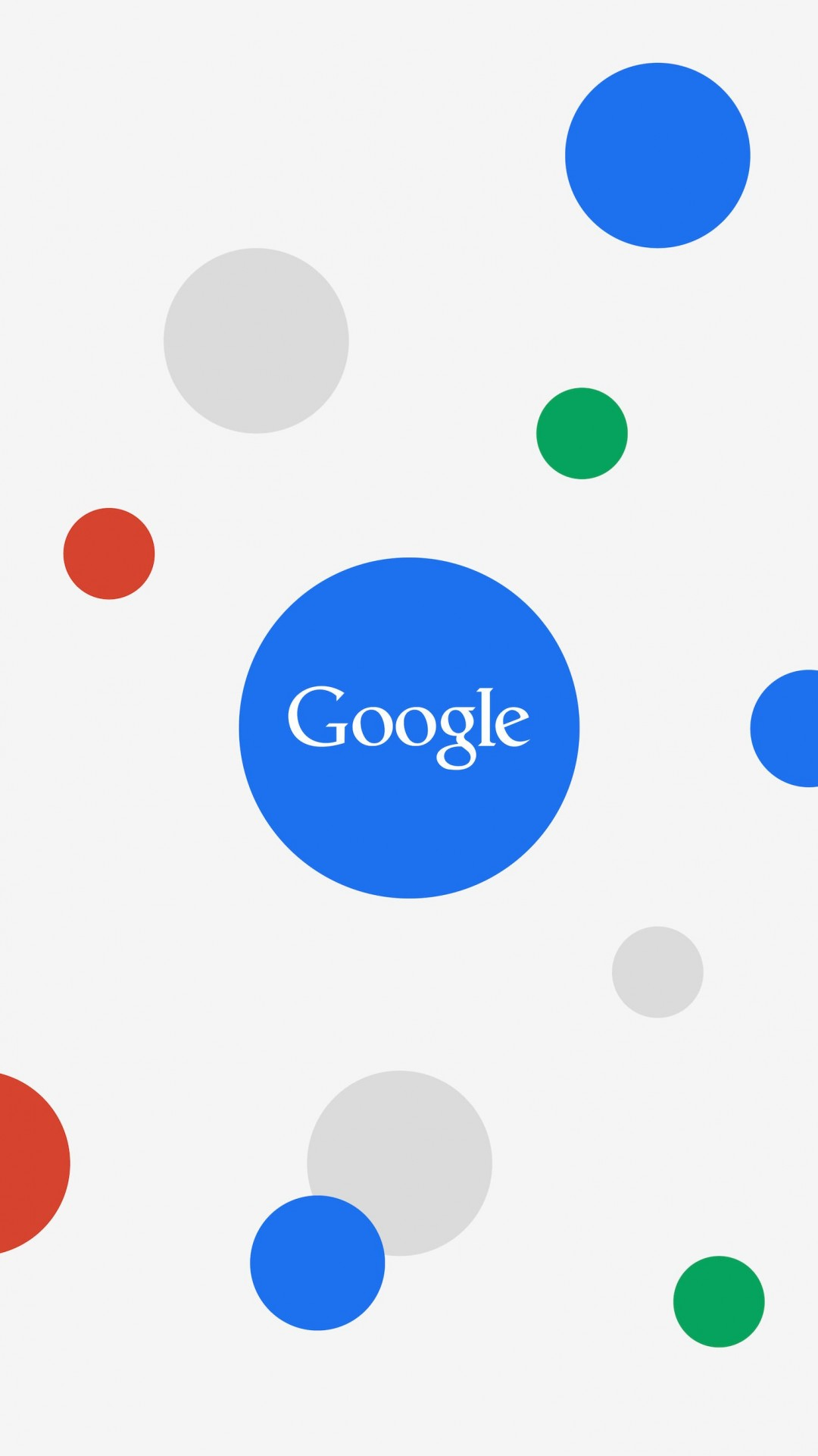 Google Circles Light Wallpaper for Motorola Moto X