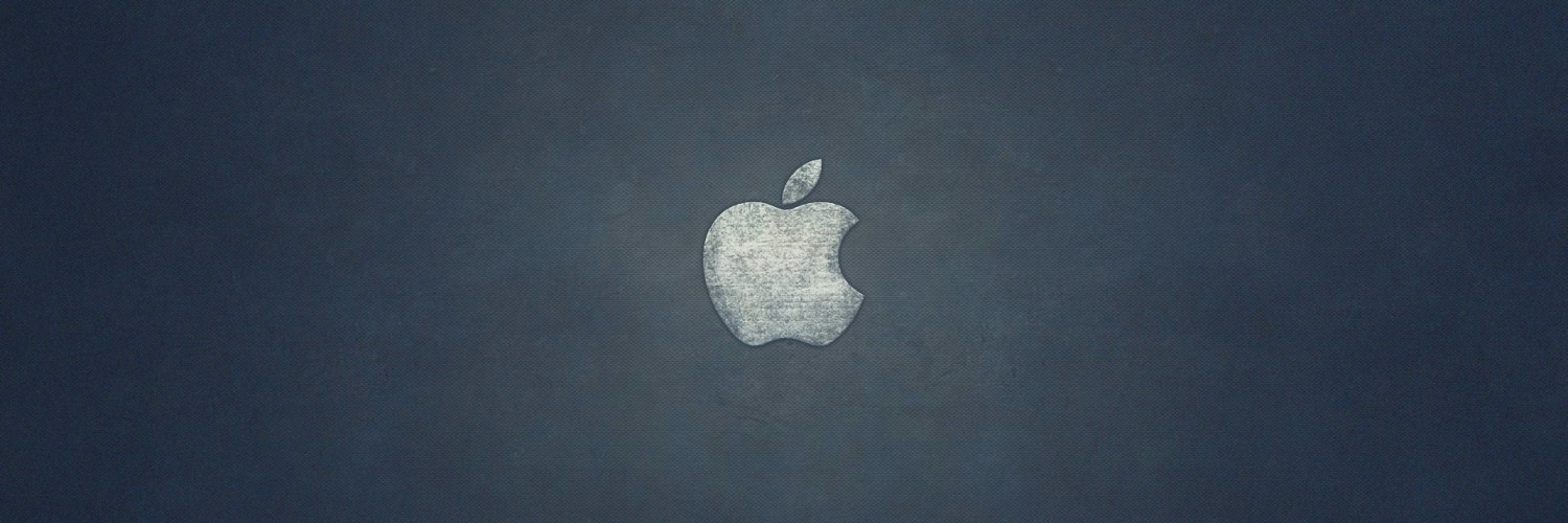 Grunge Apple Logo Wallpaper for Social Media Twitter Header