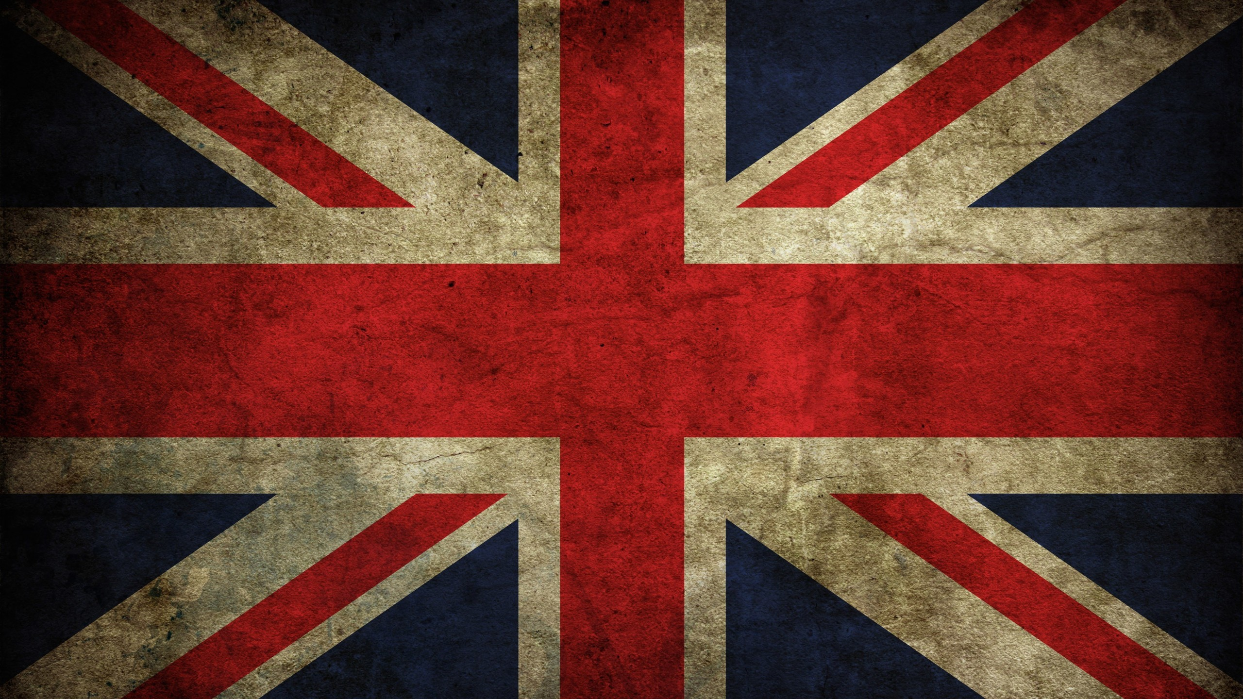 Grunge Flag Of The United Kingdom Wallpaper for Desktop 2560x1440