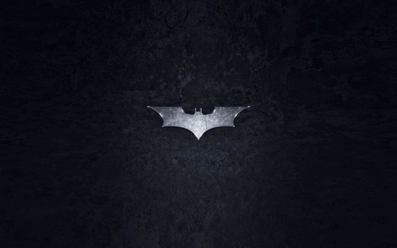 Grungy Batman Dark Knight Logo Wallpaper for Desktop 1280x800