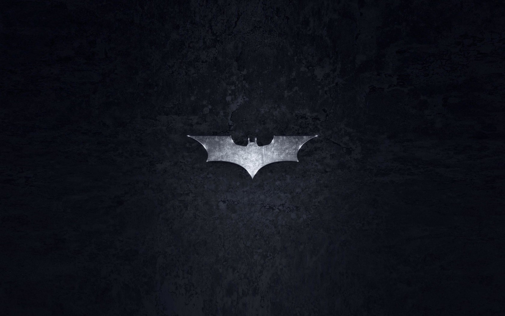 Grungy Batman Dark Knight Logo Wallpaper for Desktop 1680x1050