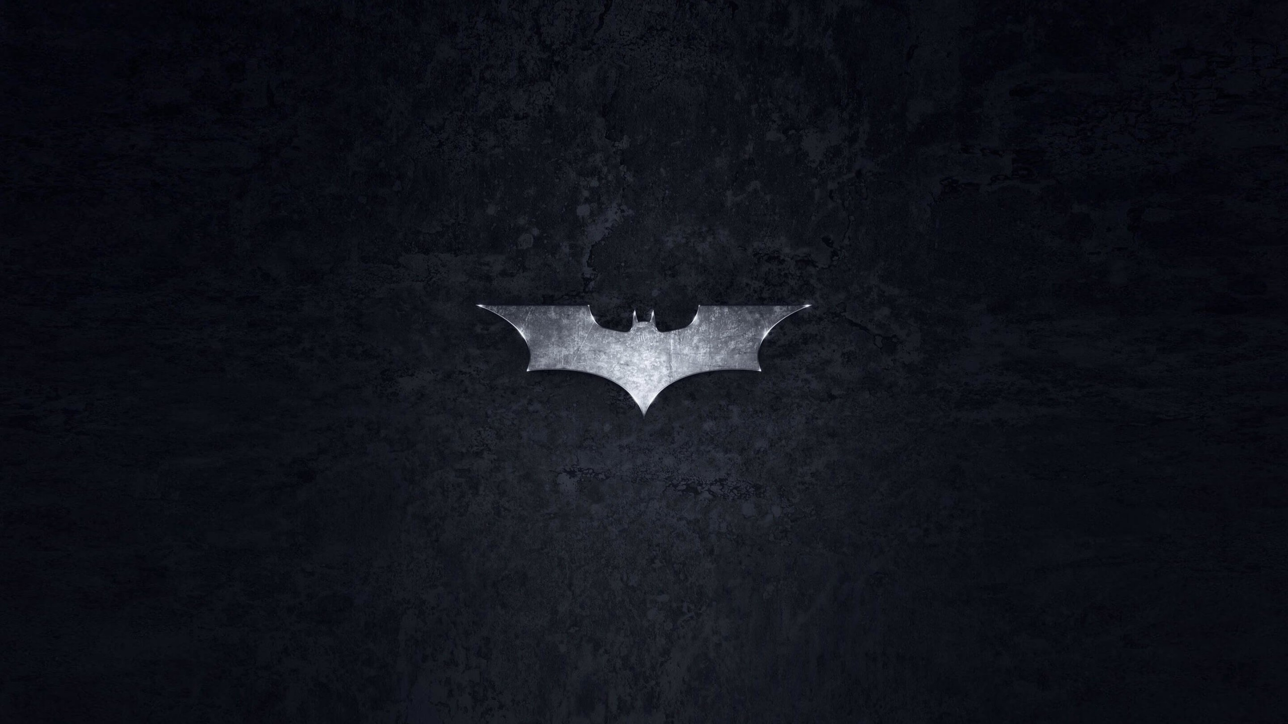 Grungy Batman Dark Knight Logo Wallpaper for Desktop 2560x1440
