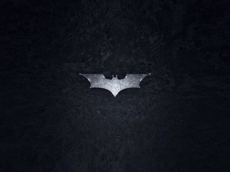 Grungy Batman Dark Knight Logo Wallpaper for Desktop 800x600