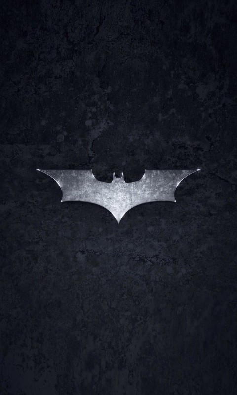 Grungy Batman Dark Knight Logo Wallpaper for SAMSUNG Galaxy S3 Mini