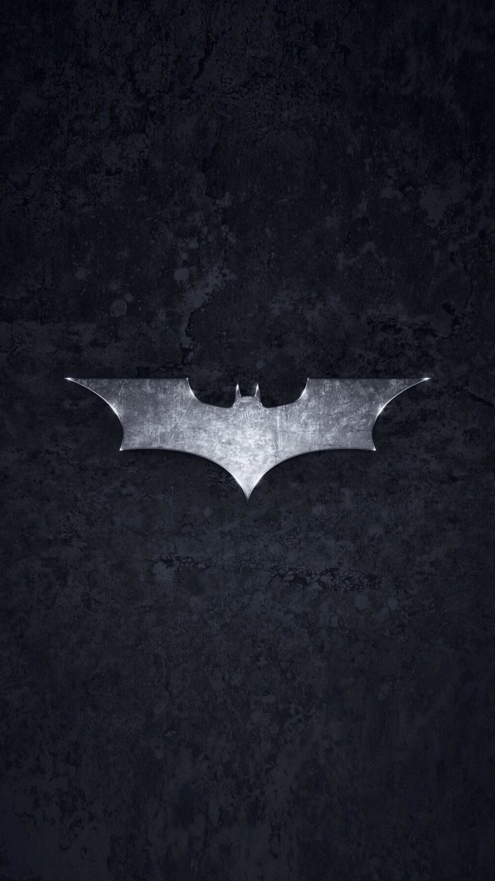 Grungy Batman Dark Knight Logo Wallpaper for HTC One mini