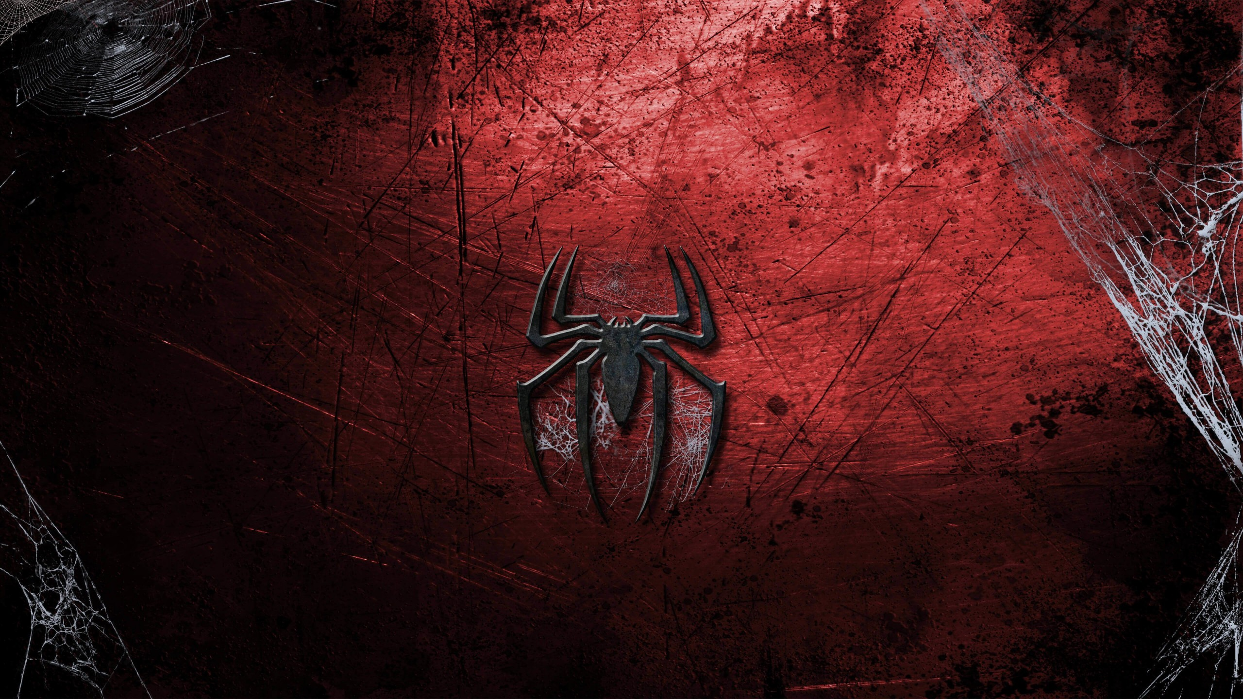 Grungy Spider-Man Logo Wallpaper for Desktop 2560x1440