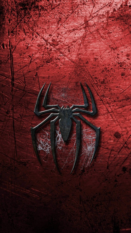 Grungy Spider-Man Logo Wallpaper for SAMSUNG Galaxy S4 Mini