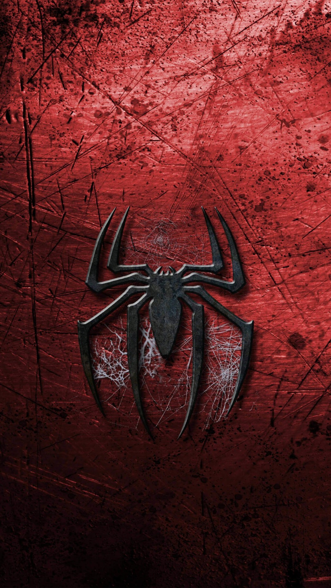 Grungy Spider-Man Logo Wallpaper for HTC One
