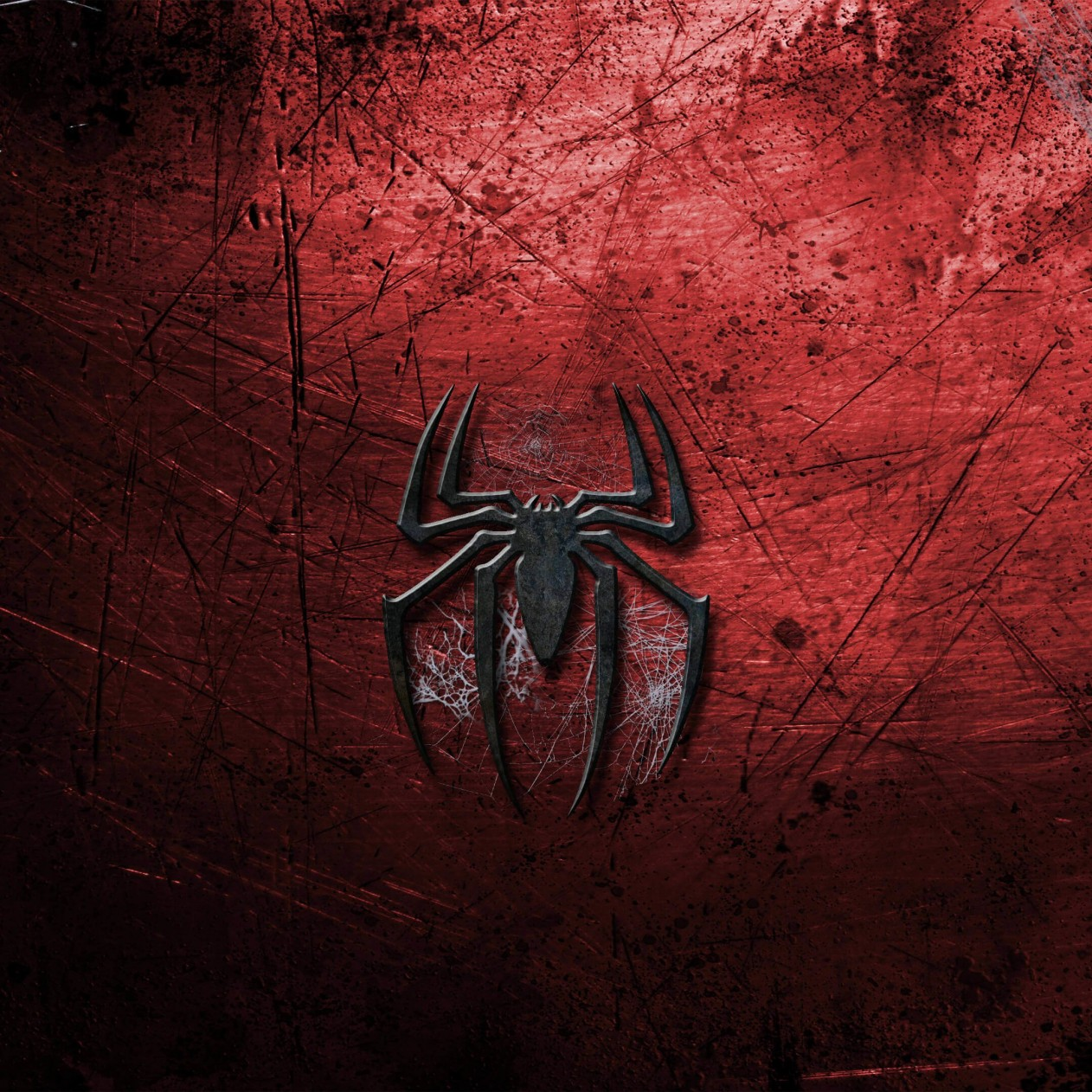 Grungy Spider-Man Logo Wallpaper for Apple iPad mini