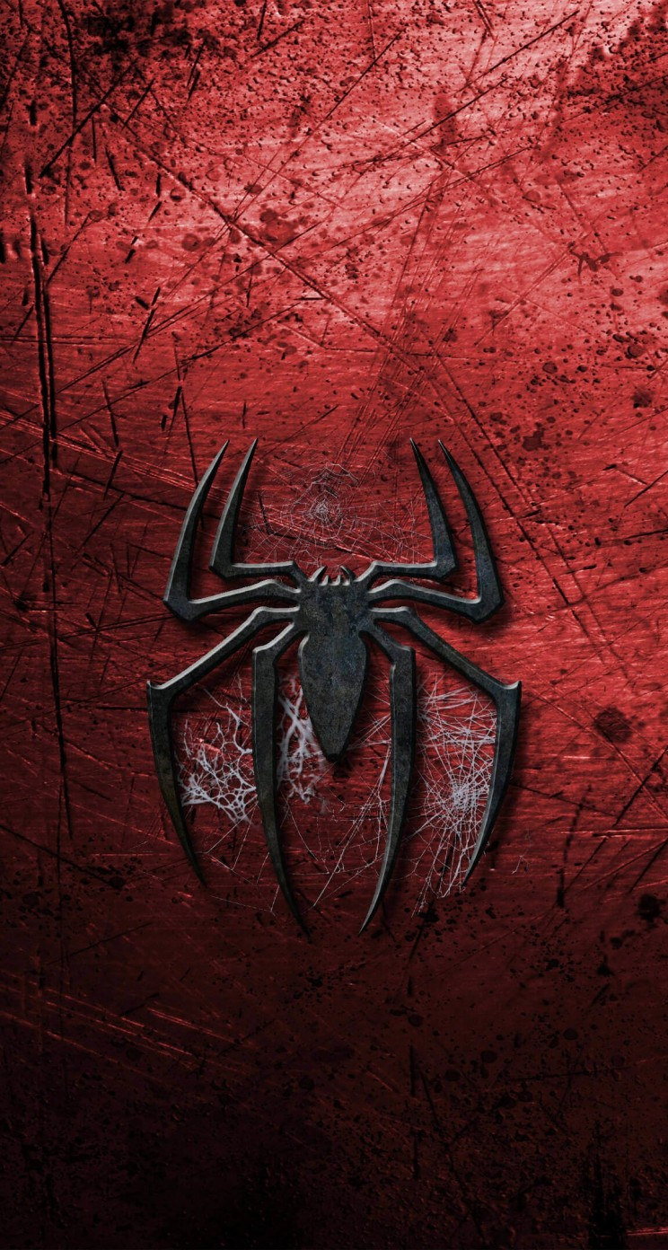 Grungy Spider-Man Logo Wallpaper for Apple iPhone 5 / 5s