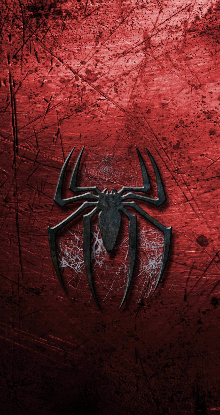Grungy Spider-Man Logo Wallpaper for Apple iPhone 6 / 6s