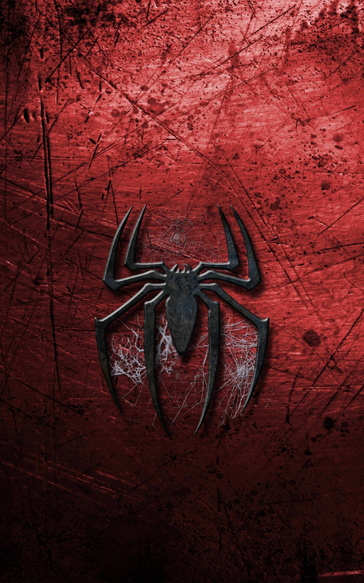 Grungy Spider-Man Logo Wallpaper for Amazon Kindle Fire HDX