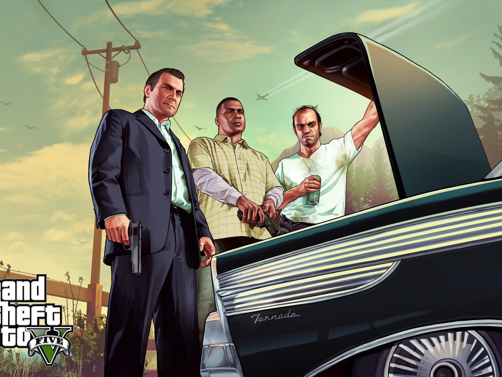 Gta 5 Characters Wallpaper for Desktop 1600x1200