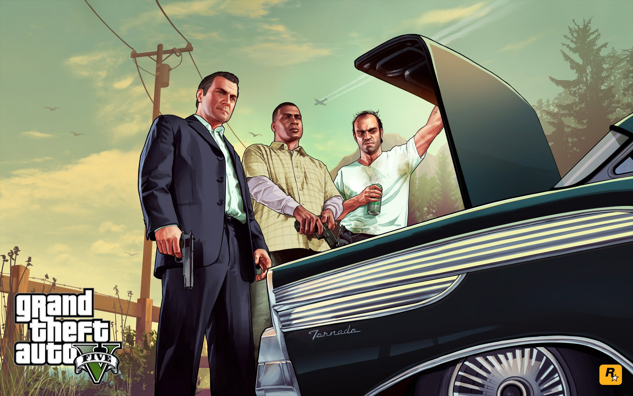 Gta 5 Characters Wallpaper for Desktop 2560x1600