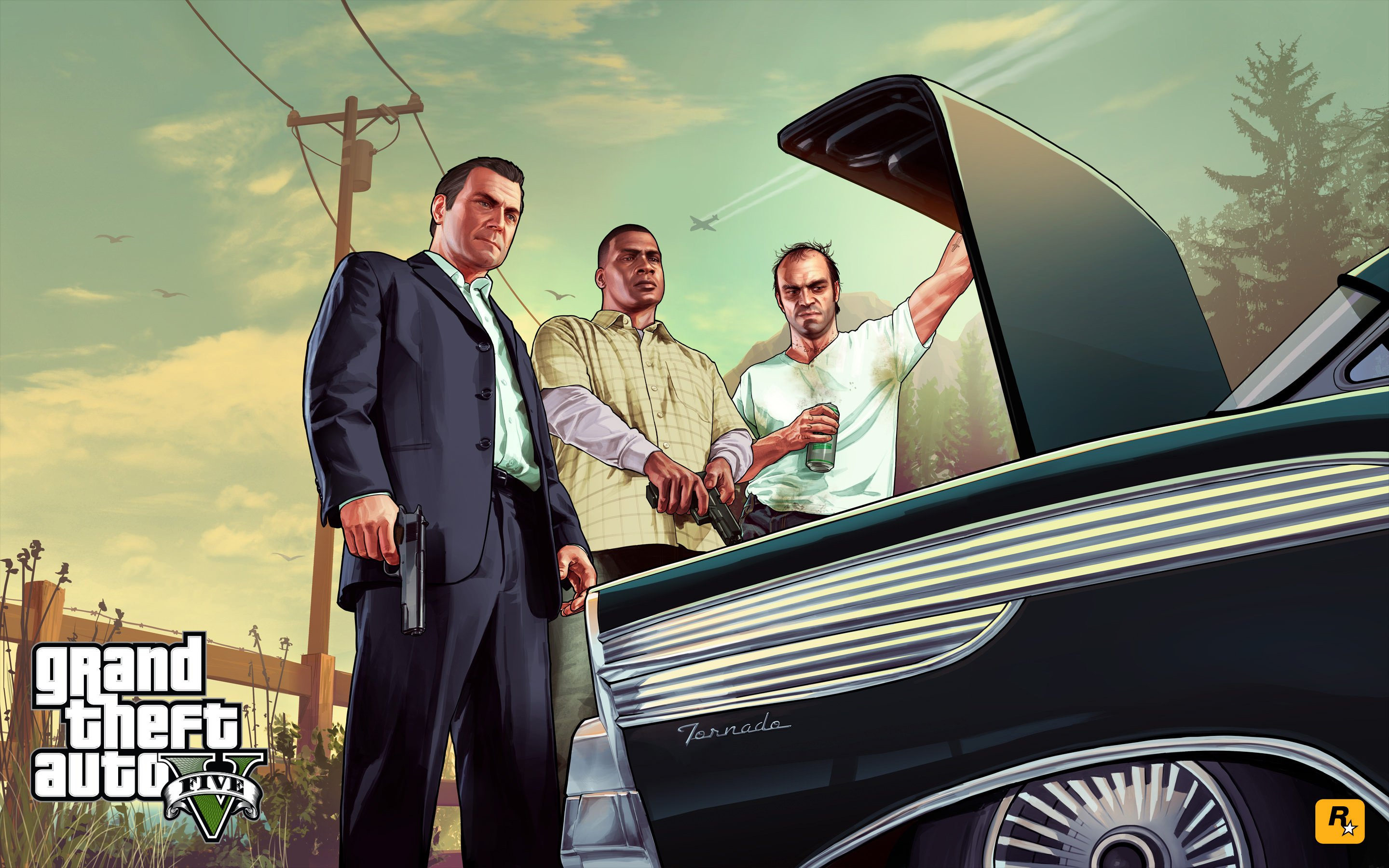 Gta 5 Characters Wallpaper for Desktop 2880x1800