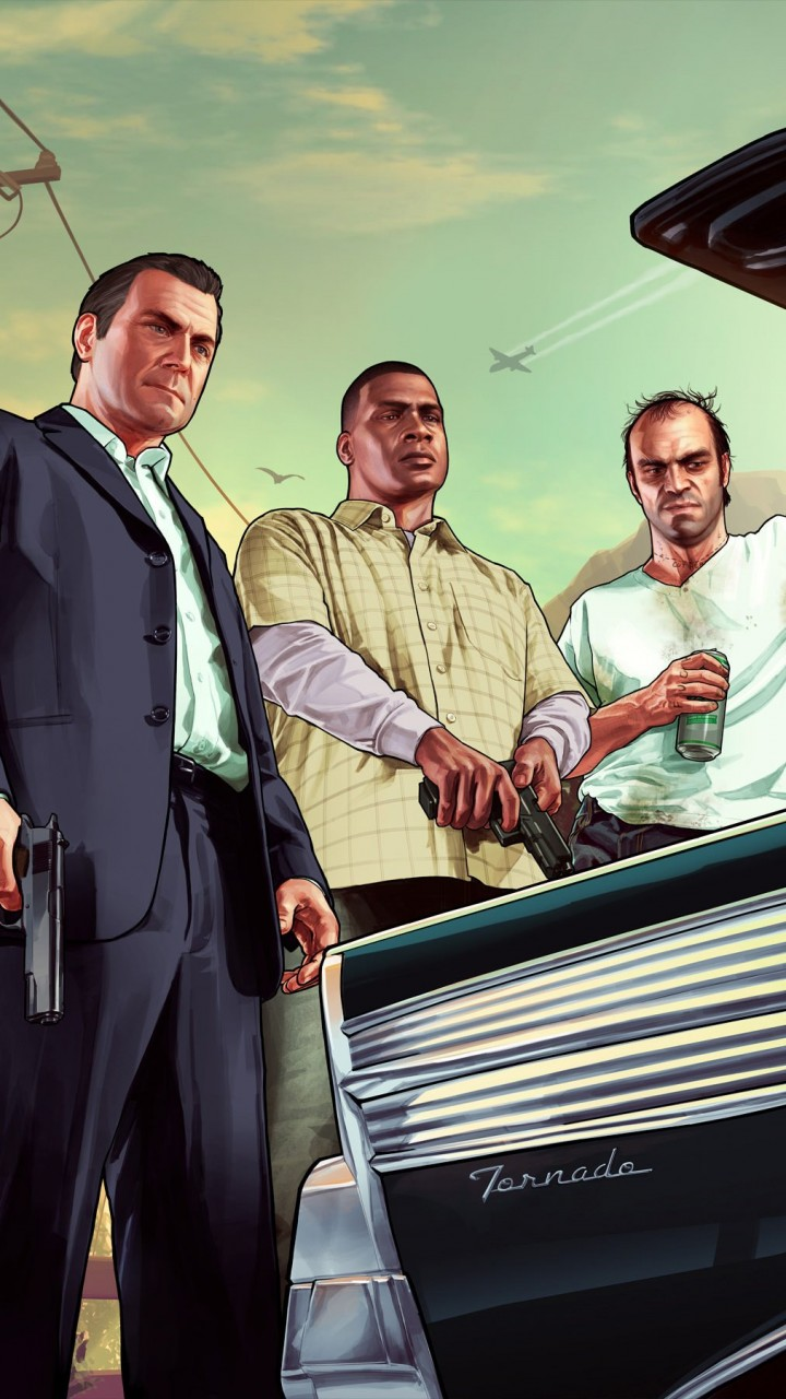 Gta 5 Characters Wallpaper for Motorola Droid Razr HD