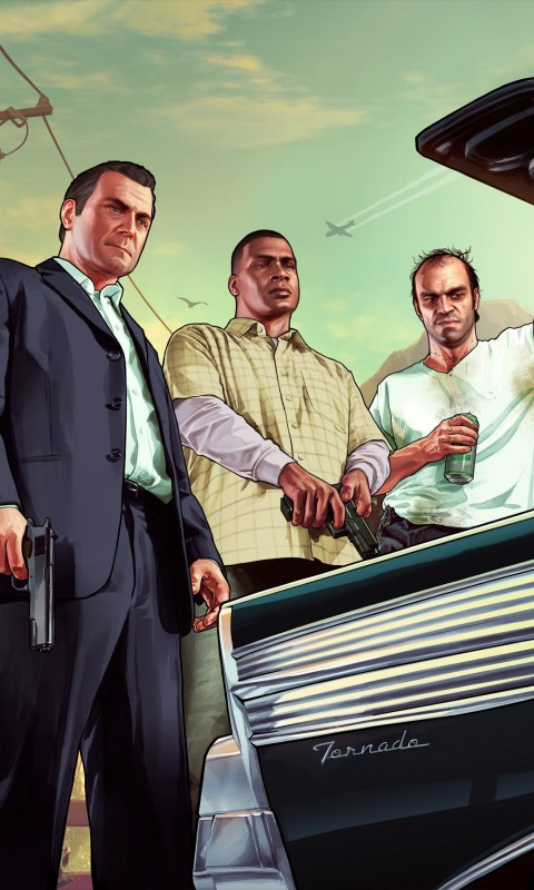 Gta 5 Characters Wallpaper for SAMSUNG Galaxy S3 Mini