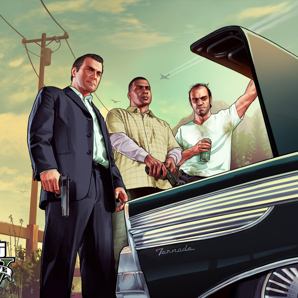 Gta 5 Characters Wallpaper for Apple iPad