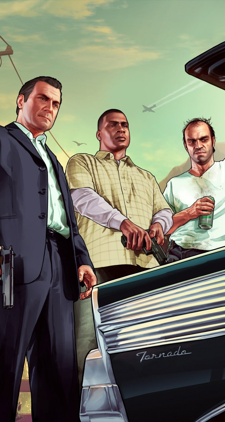 Gta 5 Characters Wallpaper for Apple iPhone 5 / 5s