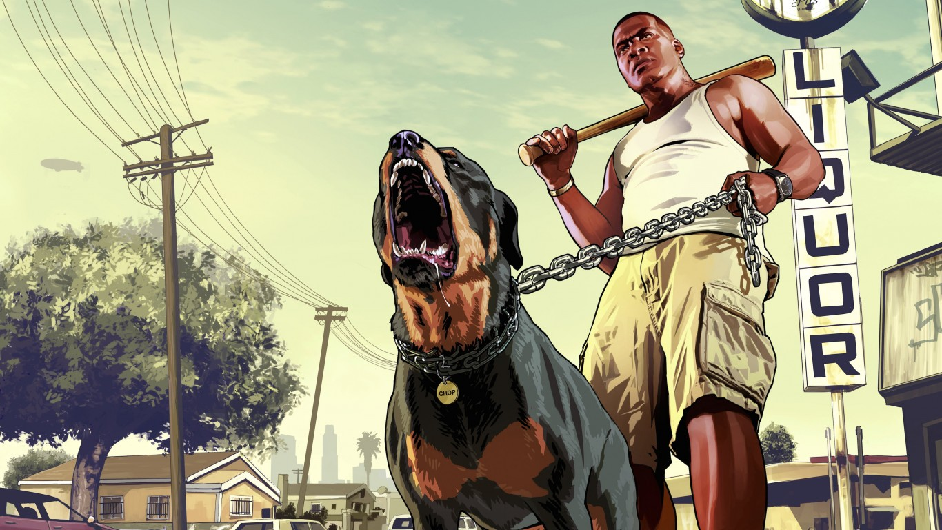 GTA 5 : Franklin Clinton Wallpaper for Desktop 1366x768
