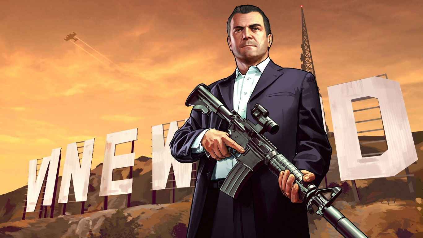 GTA 5 : Michael De Santa Wallpaper for Desktop 1366x768