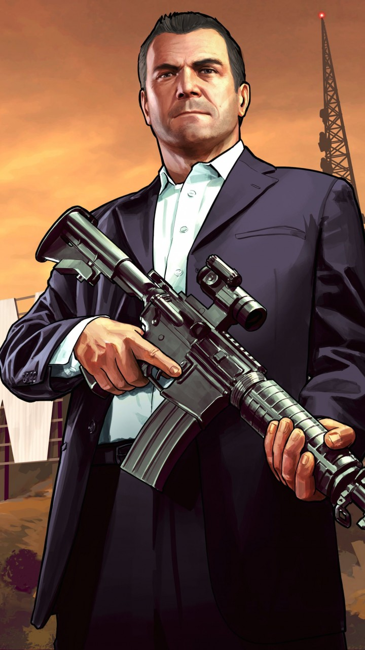 GTA 5 : Michael De Santa Wallpaper for SAMSUNG Galaxy S5 Mini